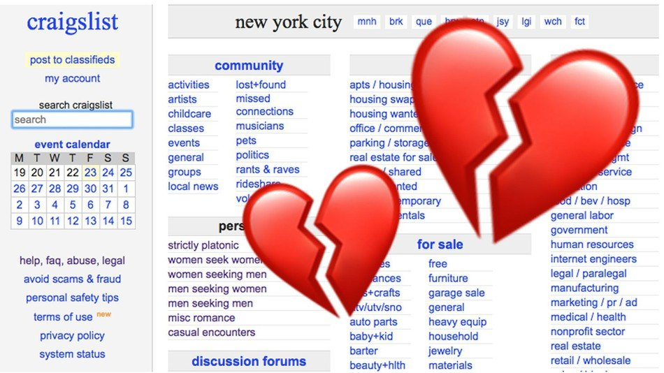 craigslist personal ads gone